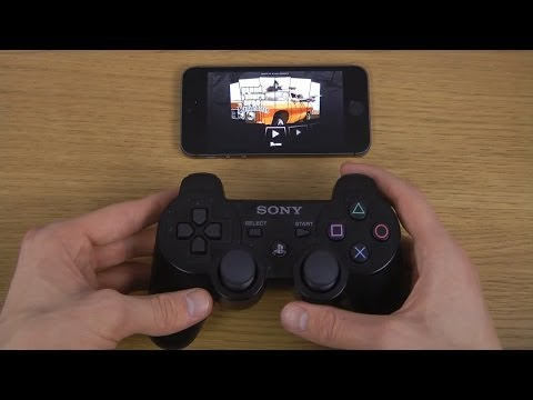 GTA San Andreas iPhone 5S iOS 7 PS3 Controller Gameplay