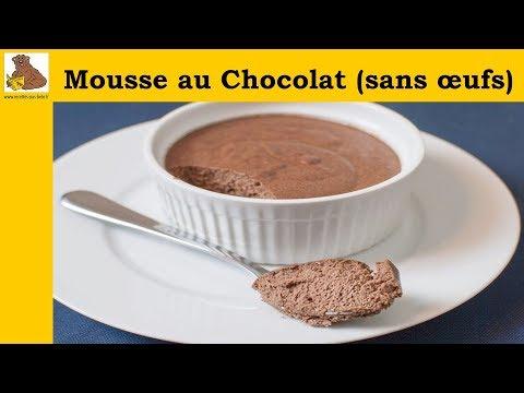 Mousse au chocolat sans œufs - recette rapide et facile