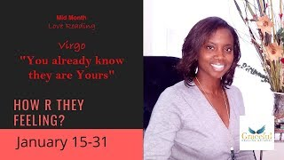 "Virgo "" You already know they are for you!!"" January Love Weekly"