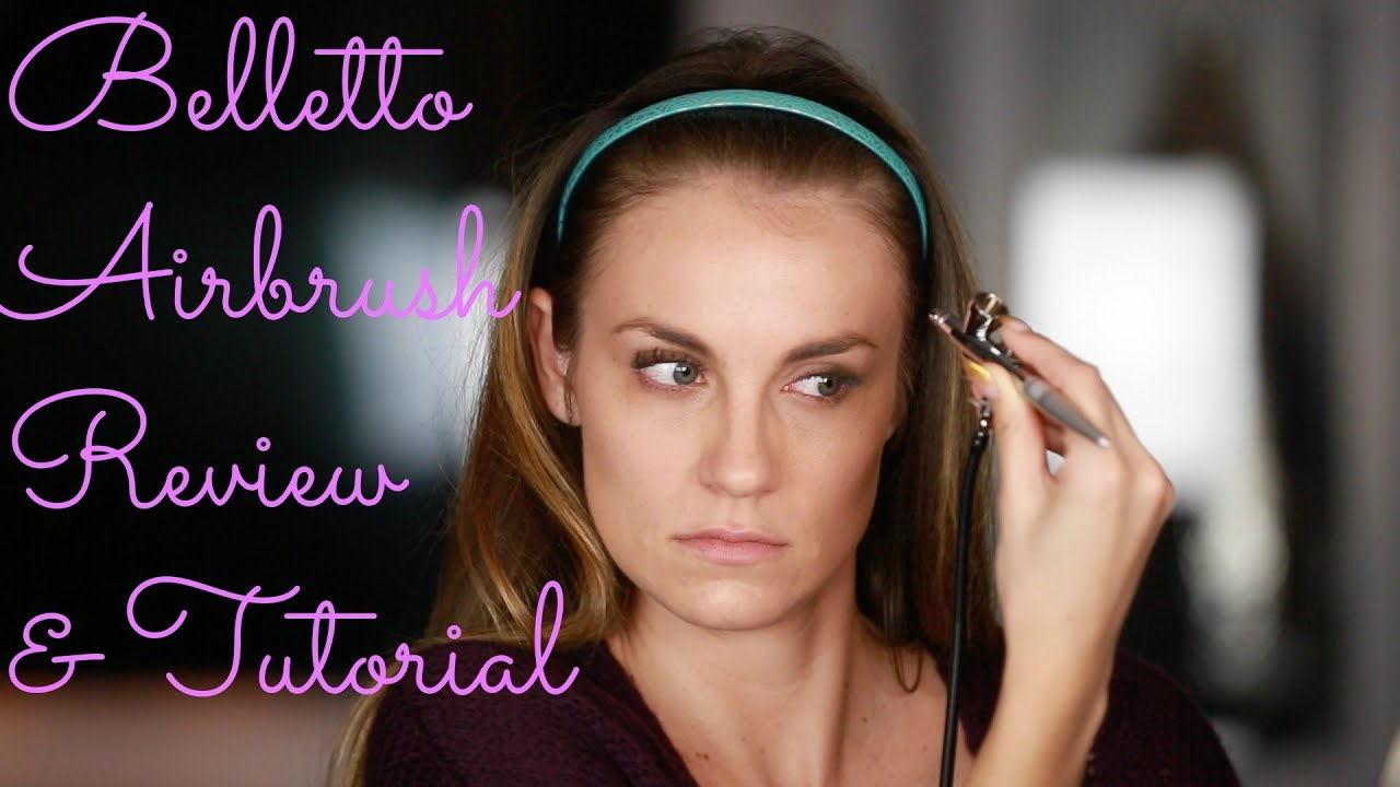 ... Airbrush Makeup Review/Tutorial for Beginners! +Outtake! - YouTube