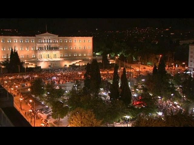Greek referendum: 'No' supporters celebrate in Athens' streets - no comment