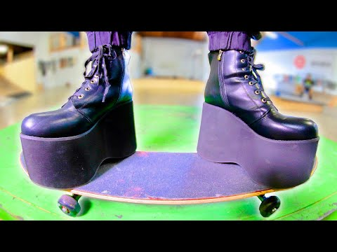 THE WORLD'S MOST DANGEROUS SKATE SHOES   EXTREMELY STUPID SKATE EP.17