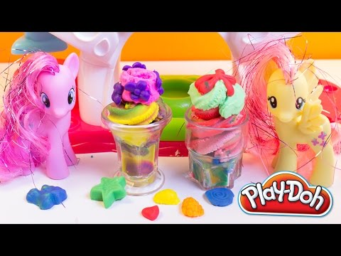 My Little Pony Play Doh Swirling Shake Shoppe Make Playdough Smoothies Ice-cream Shakes Desserts video