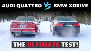 Audi Quattro VS BMW XDrive VS Jaguar AWD - The Ultimate Test on Snow! ❄️