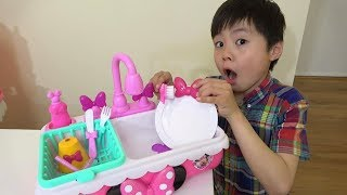 Making a ranch breakfast sink toy!Pretend Play Ko-kun nemi-chan KIDSLINE