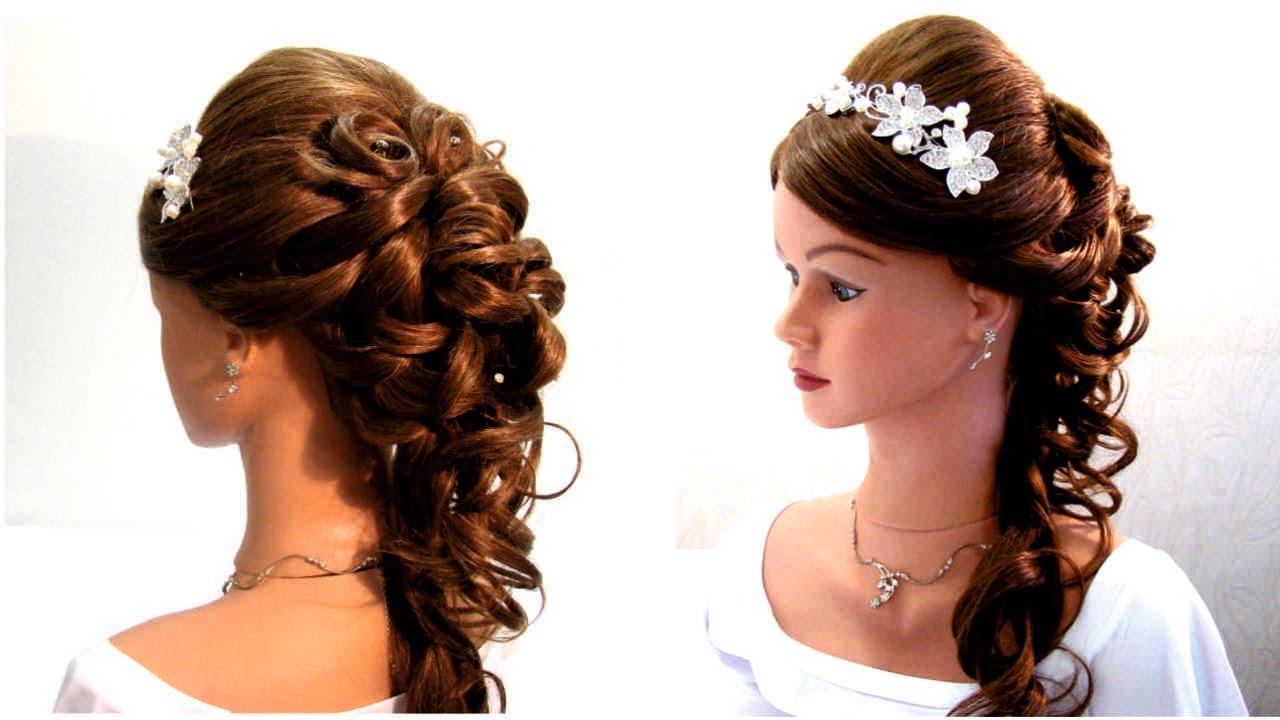 Прическа на выпускной свадебная прическа. wedding prom hairstyle