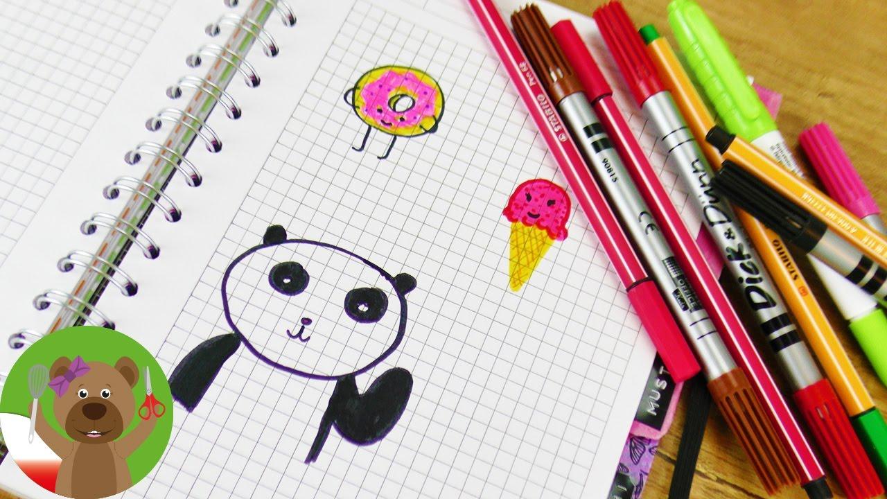 Malowanie i rysowanie w kalendarzu | 3 nowe pomysły na rysunki | lody, panda, donat