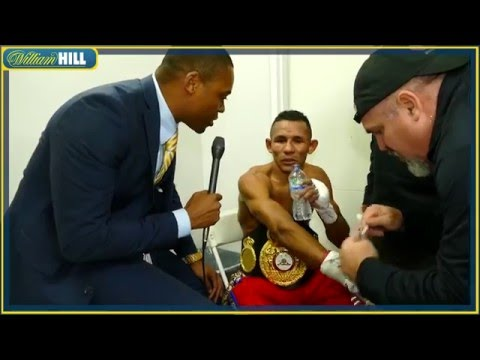 Ismael Barroso straight after KNOCKING OUT Kevin Mitchell