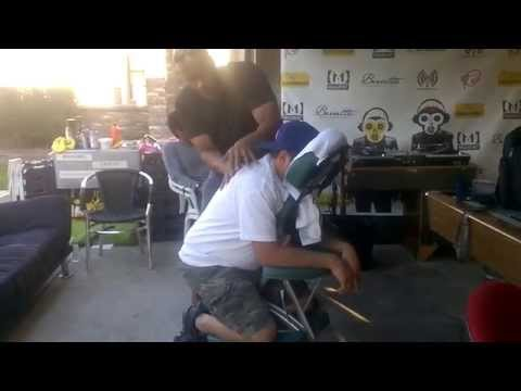 Aboriginal Holistic Remedies Chair Massage @ Vinyl Monkees Radio Camp