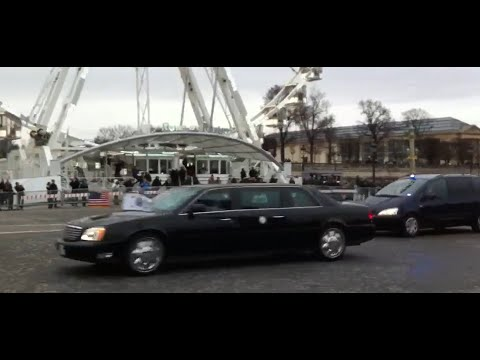 US Vice-President Joe Biden motorcade in Paris