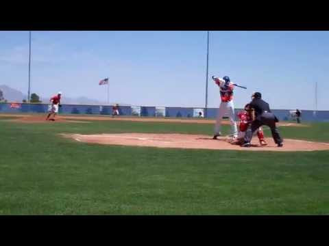 Evan McMahan pitching vs Joey Gallo - Strike Out