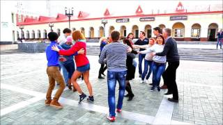 International Rueda Flashmob. Ufa Russia. Аpril 2, 2016. El Ritmo dance studio