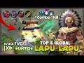 "Crazy Combo Skill & Spell |XÞ| ●υитα● Ranked 6 Global Lapu-lapu ""Impossible to Stop Me!"" ~ MLBB"