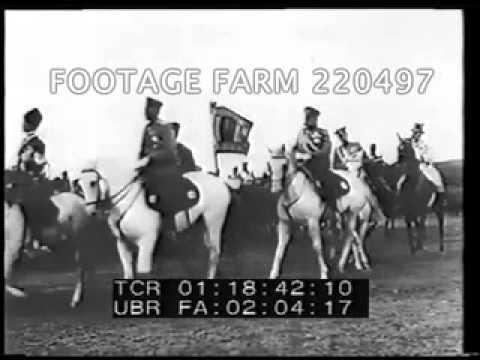 1912 - Russian Tsar Nicholas & Family Reviewing Troops 220497-04