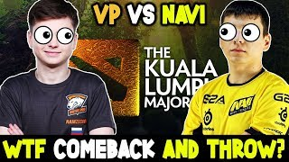 WTF Comeback And Throw - NaVi Vs Vp Kuala Lumpur MAJOR Dota 2