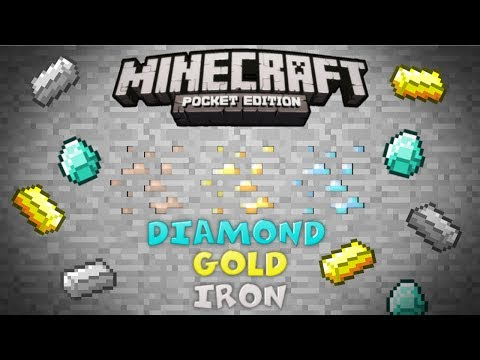 Minecraft: Pocket Edition Seeds - DIAMOND/IRON/GOLD/CLAY SEED! | MCPE