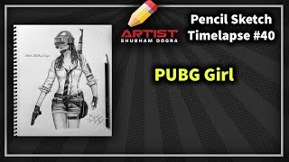 PUBG Girl Player 🔥 Realistic pencil drawing