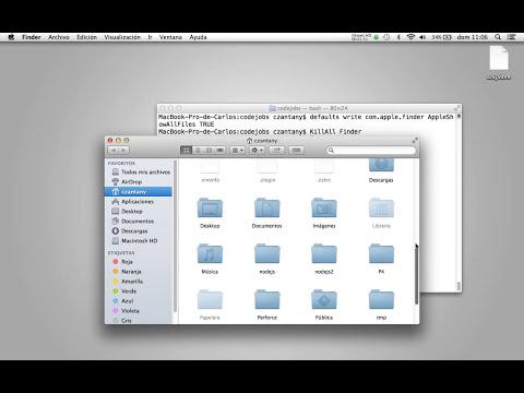 Cómo mostrar o esconder archivos ocultos en MAC