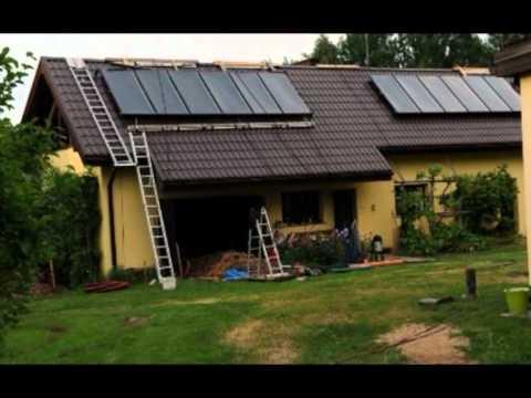 Solāra siltumsukņa apkures sistēma (plakanie vakuuma saules kolektori TS 400+siltumsūknis)