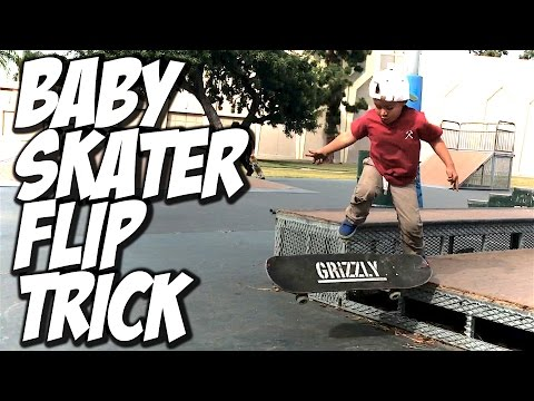 3 YEAR OLD BABY SKATER DOES FLIP TRICK ??? - A DAY WITH NKA -