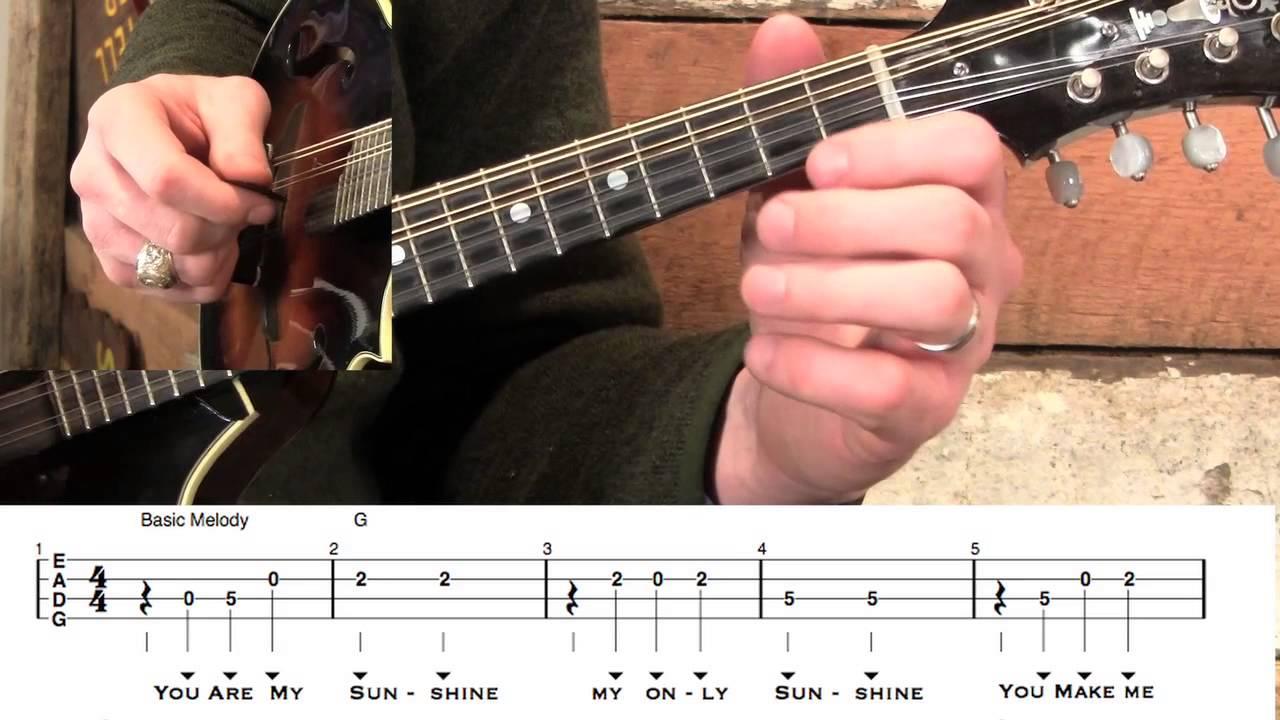 Basic Mandolin- You Are My Sunshine - YouTube