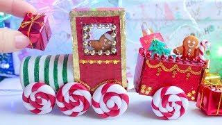 Miniature Christmas Train ❉ Cardboard Craft ❉ EASY DIY