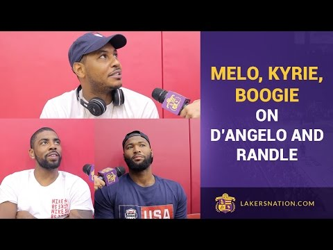 Carmelo Anthony, DeMarcus Cousins, Irving Talk D'Angelo Russell, Julius Randle