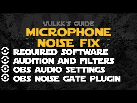 How to FIX MICROPHONE NOISE or STATIC for OBS. Team Speak and more  - Using VAC & A