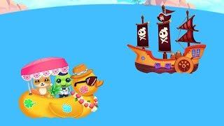 Rùa Làm Thủy Thủ Gặp Cướp Biển - Game Vui Cho Bé