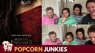Mortal Engines Official Trailer - Nadia Sawalha & Family Reaction & Review