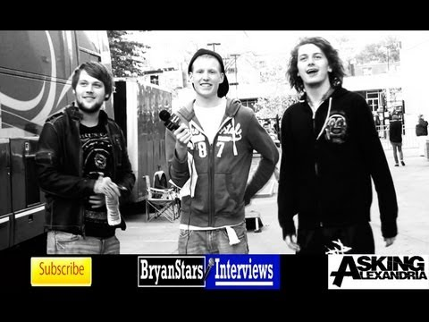 Asking Alexandria Interview #2 Danny Worsnop & Ben Bruce 2012