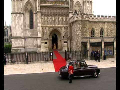 Kate Middleton Arrives At Westminster Abbey For Wedding