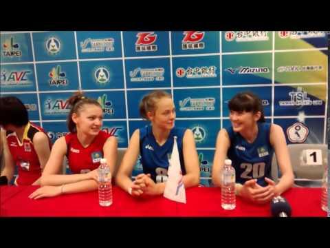 2014 AVC Women Volleyball U19 in Taipei: Kazakhstan Interview 3 #20 Sabina Altynbekova