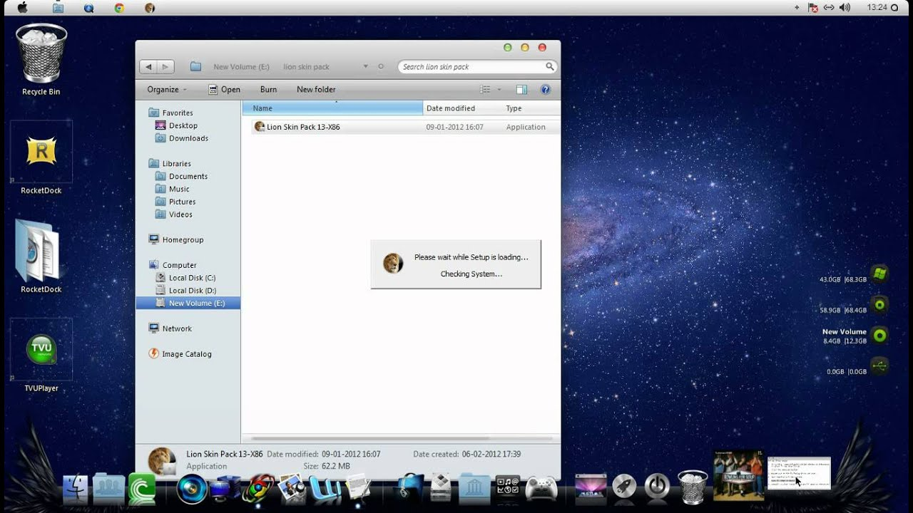 mountain lion skin pack for windows 7 64 bit