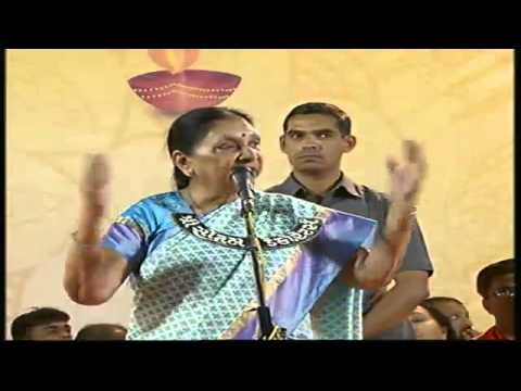 Anandiben Patel attends public meeting at Sarkhej, Ahmedabad
