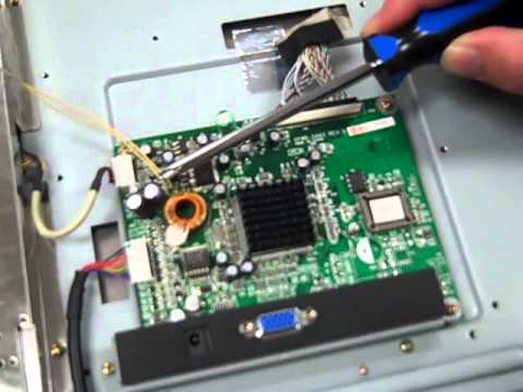 Fix a ViewSonic VE700 LCD Monitor - blinking light - bad capacitor