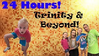 24 Hour Overnight Challenge At Trinity & Beyond's House! (They Had No Idea I was There!)