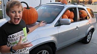 PUMPKIN PRANK! Filled His Truck with Pumpkins