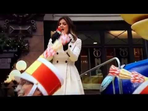 Lucy Hale performing LALB in the Macy's Thanksgiving Day Parade