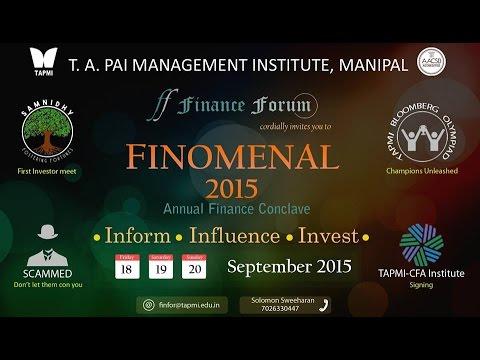 Finomenal 2015 - Bloomberg Olympiad @TAPMI, Manipal