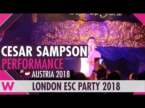 "Cesár Sampson - ""Nobody But You"" (Austria 2018) LIVE @ London Eurovision Party 2018"