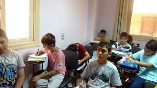 My cute little devils from Turkey doing Arabic exam - Turkish Students 02