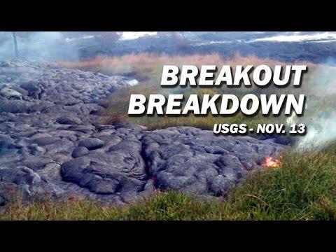 Lava Breakout Breakdown by USGS HVO (Pahoa Meeting - Nov. 13)