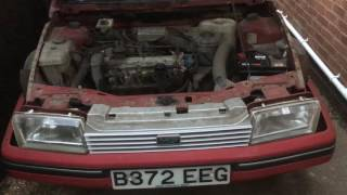 Austin Montego 2.0HLS being started after 16 years off the road