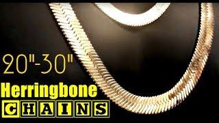 14k Gold Plated Herringbone Chains