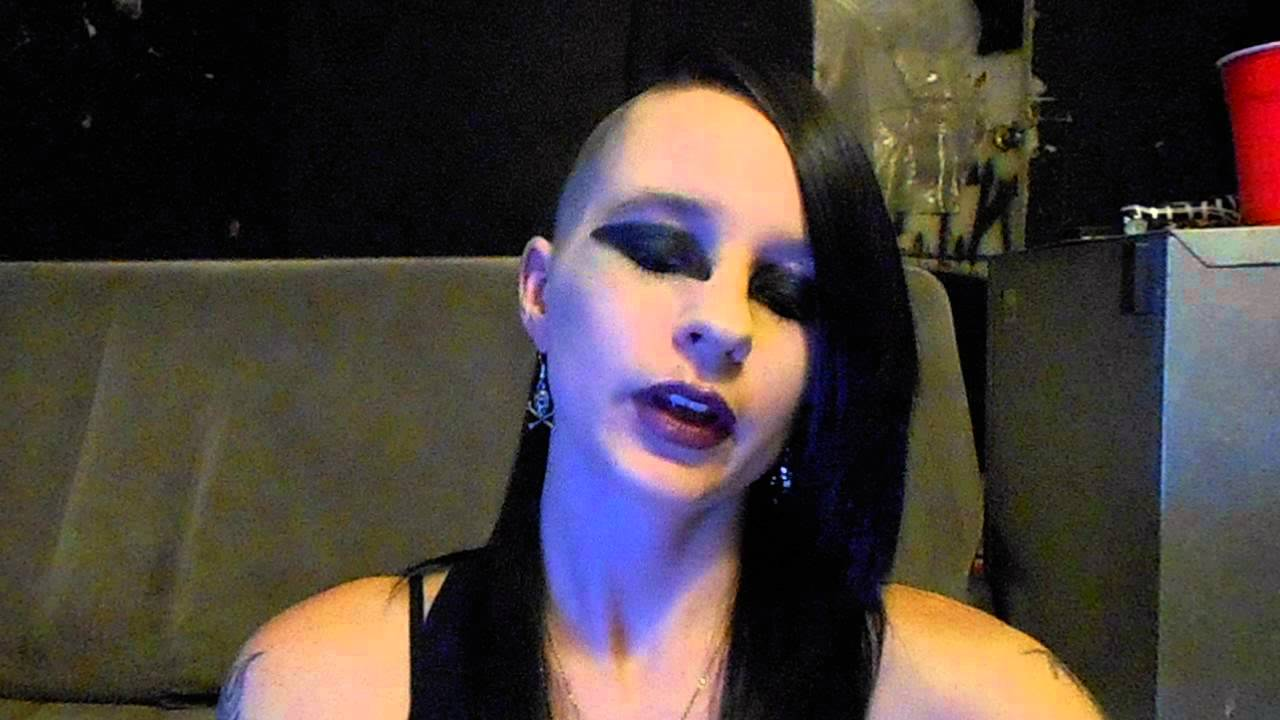 Gothic Makeup Side Shave Hairstyle YouTube