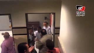 مشادة بين نائب رئيس نادي سموحة وأمن استاد الدفاع الجوي لمنعه من حضور التتويج
