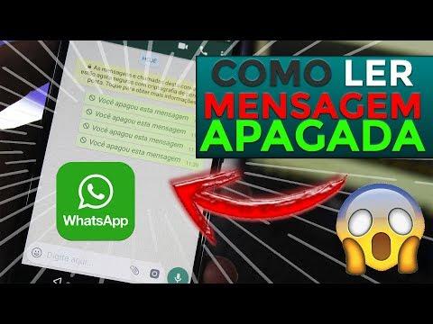 WhatsApp! COMO LER MENSAGENS APAGADAS
