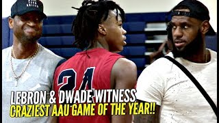 LeBron & D-Wade Watch Zaire Wade & CRAZIEST HS SUPER TEAM! LeBron JUMPING OUT OF HIS SEAT!