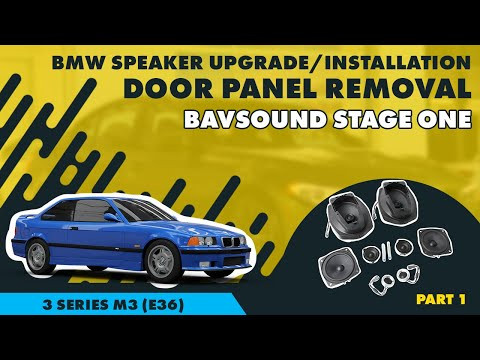 BSW Stage I Speaker Upgrade: Part 1 - BMW e36 3 Series M3 Door Panel Removal